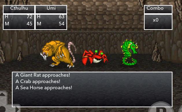 クトゥルフ神話の8bitなRPGゲーム